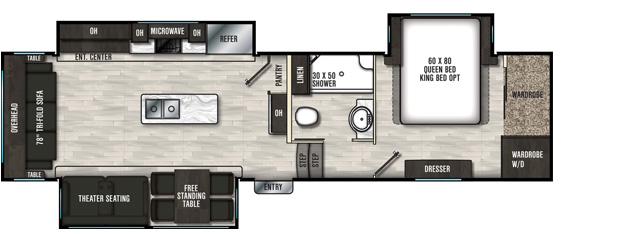 Coachmen RV Brookstone  310RL - DSO Floorplan  5th Wheel Trailers