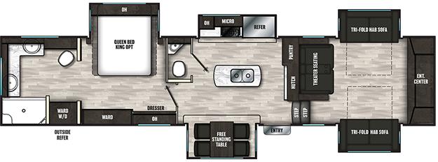 Coachmen RV Brookstone  344FL Floorplan 5th Wheel Trailers
