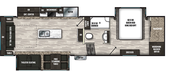 Coachmen RV Brookstone  290RL Floorplan  5th Wheel Trailers