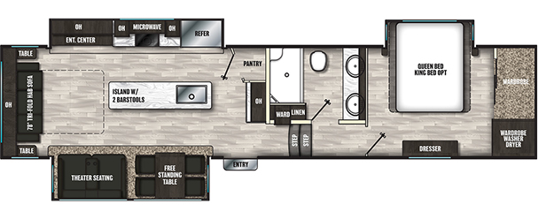 Coachmen RV Brookstone 350RL Floorplan 5th Wheel Trailers