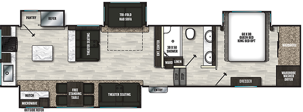 Coachmen RV Brookstone 374RK Floorplan 5th Wheel Trailers
