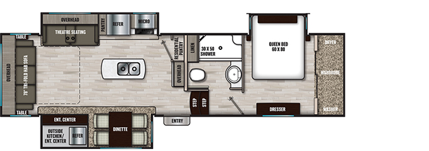 Coachmen RV Chaparral 298RLS Floorplan 5th Wheel Trailers
