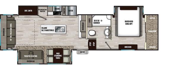 Coachmen RV Chaparral 336TSIK Floorplan 5th Wheel Trailers