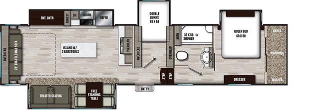 Coachmen RV Chaparral 360IBL Floorplan 5th Wheel Trailers