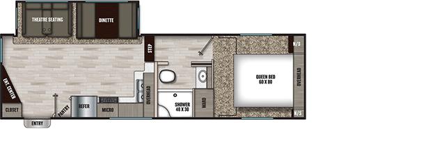 Coachmen RV 25RE Floorplan  5th Wheel Trailers
