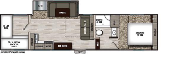 Coachmen RV 274BH Floorplan  5th Wheel Trailers