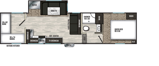 Coachmen RV Chaparral X 274X Floorplan  5th Wheel Trailers