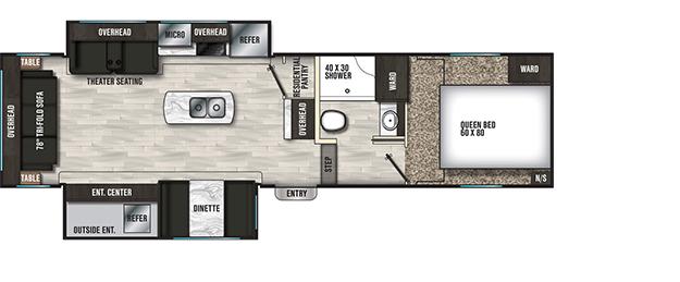 Coachmen RV Chaparral X 284X Floorplan  5th Wheel Trailers