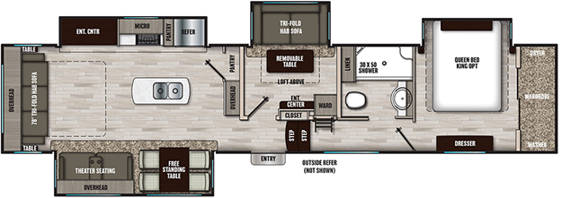 Coachmen RV Chaparral X 393MBX Floorplan  5th Wheel Trailers
