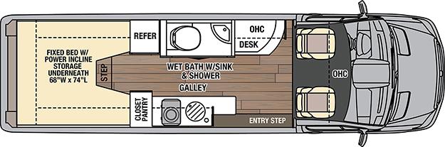 Coachmen galleria 24A Floorplan