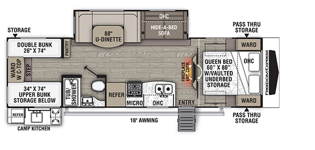 Coachmen RV Freedom Express Select Liberty Edition 292BHDS Trailers